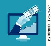 profit. illustration of a hand... | Shutterstock .eps vector #507276097