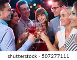happy group of young friends... | Shutterstock . vector #507277111