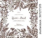 wisteria flower background.... | Shutterstock .eps vector #507277195