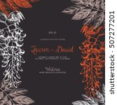 wisteria flower background.... | Shutterstock .eps vector #507277201