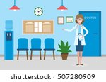 doctor in waiting room....   Shutterstock .eps vector #507280909