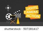 cinema flat template background ... | Shutterstock .eps vector #507281617