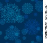 seamless pattern of snowflakes... | Shutterstock .eps vector #507283207