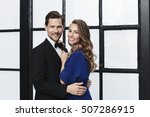 smiling and glamorous looking... | Shutterstock . vector #507286915