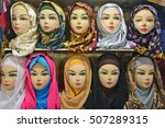headscarf  hijab shop at... | Shutterstock . vector #507289315