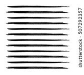 hand drawn horizontal stripes... | Shutterstock .eps vector #507292357
