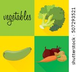 vegetables  broccoli  zucchini  ... | Shutterstock .eps vector #507293521