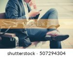 hand writing populace  with the ... | Shutterstock . vector #507294304