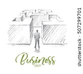 vector hand drawn business... | Shutterstock .eps vector #507299701