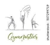 vector hand drawn gymnastics... | Shutterstock .eps vector #507299719