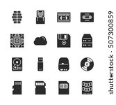 data storage vector solid icon... | Shutterstock .eps vector #507300859