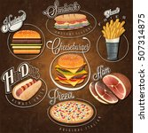 fast food illustrations | Shutterstock .eps vector #507314875
