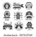 music record studio black and... | Shutterstock .eps vector #507315769