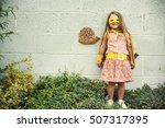 superhero baby girl brave... | Shutterstock . vector #507317395