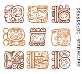 maya glyphs  writing system and ... | Shutterstock .eps vector #507319435