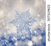 Digital Composite Of Snowflake...