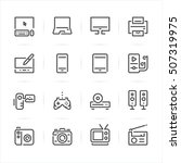 electronic devices icons with... | Shutterstock .eps vector #507319975