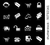 sale and shopping icons with... | Shutterstock .eps vector #50732161