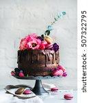 Chocolate Wedding Cake With...