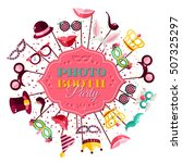 photo booth party invitation... | Shutterstock .eps vector #507325297