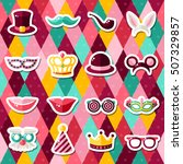 set of carnival masks on... | Shutterstock .eps vector #507329857