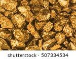 golden nuggets closeup.... | Shutterstock . vector #507334534