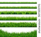 green grass borders big set ... | Shutterstock .eps vector #507335791