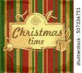 christmas background  | Shutterstock .eps vector #507336751