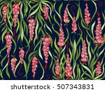 floral seamless pattern. ... | Shutterstock .eps vector #507343831