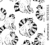 seamless pattern with wild ring ...   Shutterstock .eps vector #507353311