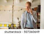 handsome ginger businessman... | Shutterstock . vector #507360649