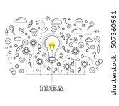 vector idea concept with light... | Shutterstock .eps vector #507360961