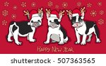 happy new year card. abstract... | Shutterstock .eps vector #507363565