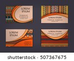 business card or visiting card... | Shutterstock .eps vector #507367675
