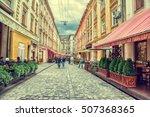 lviv  ukraine   august 11  2016 ... | Shutterstock . vector #507368365