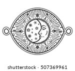 intricate hand drawn ornate... | Shutterstock .eps vector #507369961