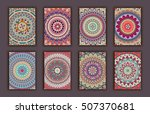 collection retro cards. ethnic... | Shutterstock .eps vector #507370681