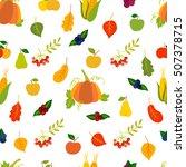 happy thanksgiving vector... | Shutterstock .eps vector #507378715