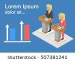 isometric icons of ... | Shutterstock .eps vector #507381241