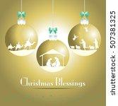 christmas nativity scene.... | Shutterstock .eps vector #507381325