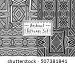 ethnic geometric backgrounds.... | Shutterstock .eps vector #507381841