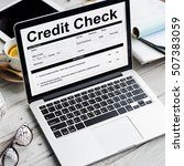 Small photo of Credit Check Financial Accounting Request Form Concept