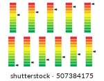 color coded progress  level... | Shutterstock .eps vector #507384175