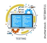 testing  a b split testing... | Shutterstock .eps vector #507384511