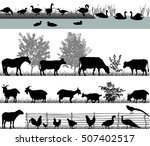 Stock vector farm animals 507402517