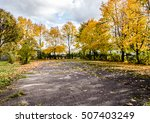 parking lot tree   winding road ... | Shutterstock . vector #507403249
