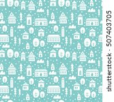 seamless vector pattern with... | Shutterstock .eps vector #507403705