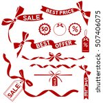 vector sale set. decorative... | Shutterstock .eps vector #507406075