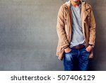 men's casual outfits standing... | Shutterstock . vector #507406129