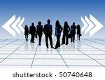 illustration of business people | Shutterstock .eps vector #50740648
